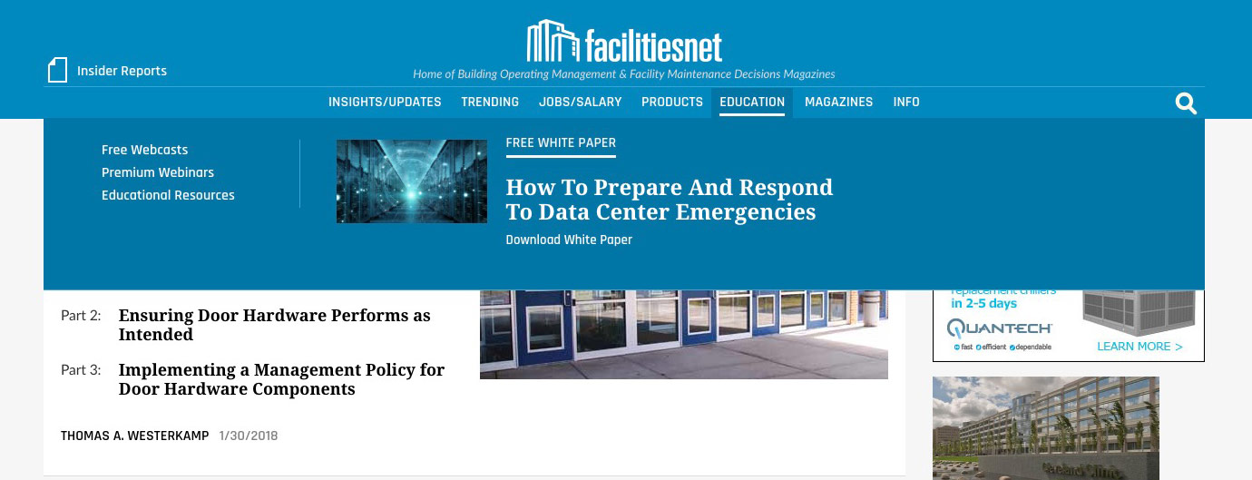 Digital Opportunities - Reach Facility Managers